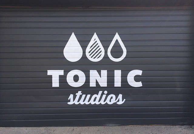 Logotype hand painted for Tonic Studios Columbus Ohio