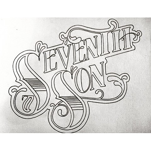 Hand lettered logotype concept for Seventh Son Brewing Company Columbus Ohio