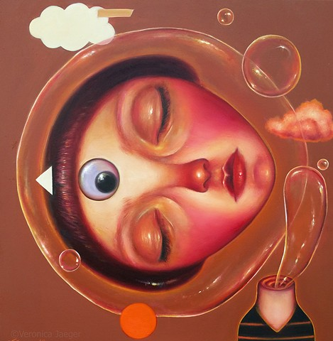 surreal, popsurreal, surrealism, portrait, lowbrow, women artists, oil painting, painting, contemporary art, contemporary painting, women artists, texas artists, latin american artists, art, artist, fine art, oil on canvas, dog painting, dog art