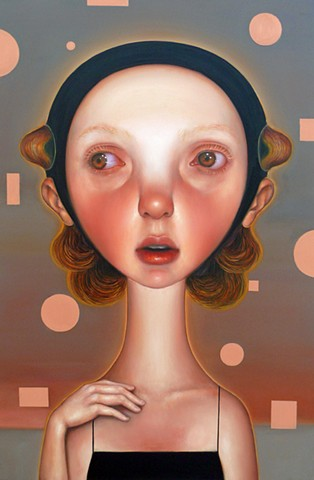 surreal art, pop surrealism, art, contemporary painting, contemporary art, oil painting, women artists, veronica jaeger art, portrait, imaginary portraits, beautiful bizarre