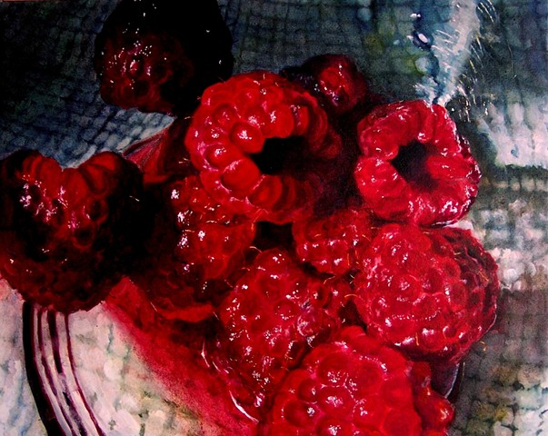 Red Raspberries, Still Life, Raspberry Painting, Realism, Oil Painting