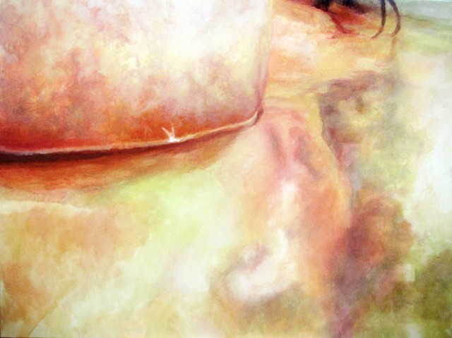 Figure Painting, Oil Painting, Abstract, Bathing, Bather Painting, Flesh, Reflection, Pastels, Flesh Tone