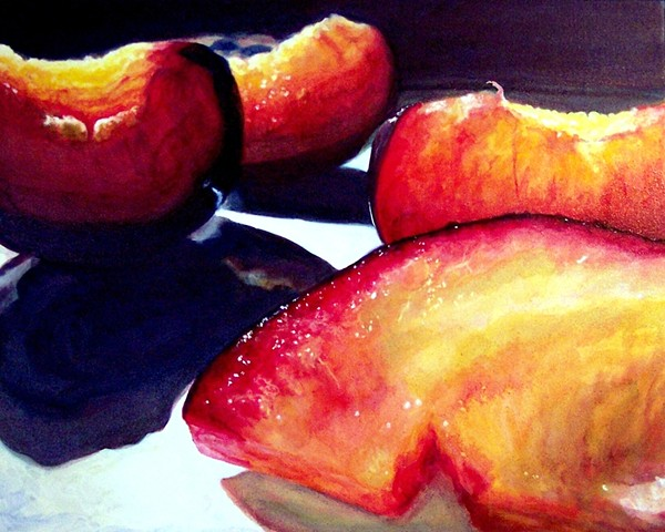 Black Plums, Plum Painting, Still Life, Fruit Painting, Realism, Oil Painting