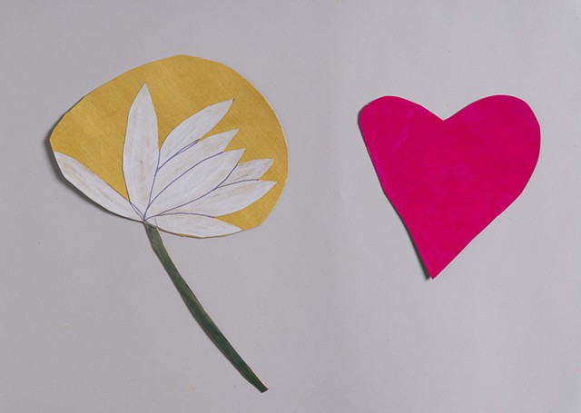heart and flower props