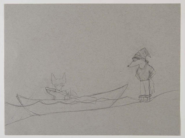 the canoe sunk sketch