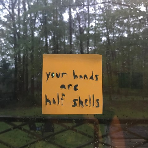 sticky note about your hands