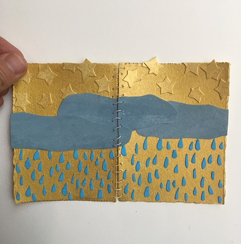 pocket size, foldable rain and stars