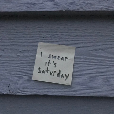 saturday sticky note