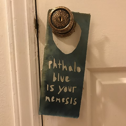 studio door knob hanger for Allison Coleman