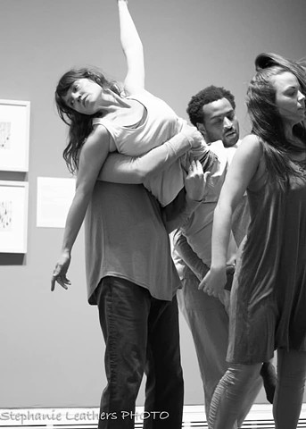 Dance in the Galleries, Ackland Art Museum 2019, choreography by Killian Manning, Inspired by the drawings of Santiago Ramon y Cajal, photo by Stephanie Leathers