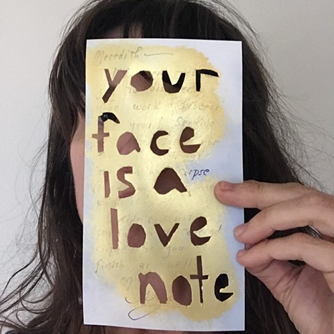 your face is a love note