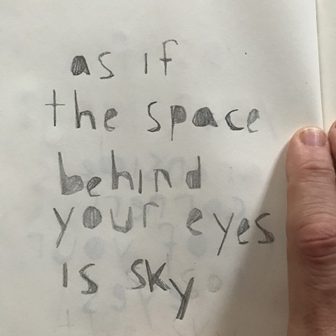 the space behind your eyes is sky