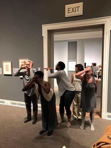 Dance in the Galleries, Ackland Art Museum 2019, choreography by Killian Manning, Inspired by the drawings of Santiago Ramon y Cajal, photo by Heather Trateau