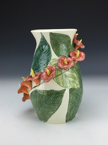 Tropical Flower Vase (View 2)
