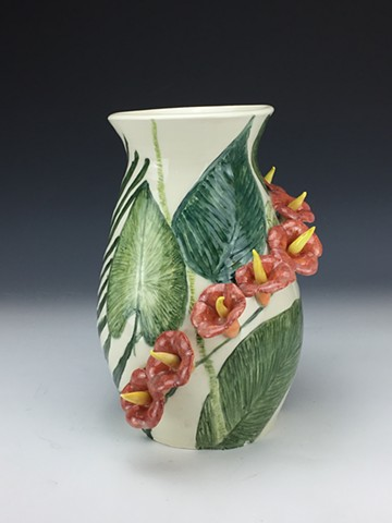 Tropical Flower Vase (View 1)