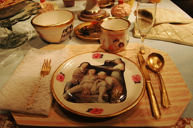 """If I knew you were coming I'd have baked a cake"" (Table Setting Detail)"