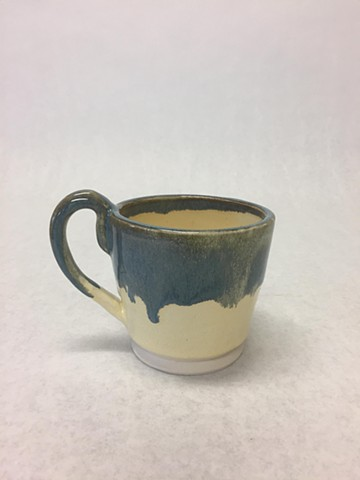 Yellow and Blue Tea Cup