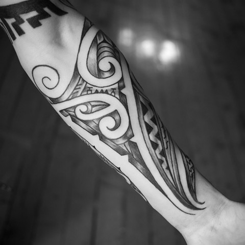 Tattoo by Mikel - Kelowna B.C. Canada. Maori inspired with some Polynesian as well.