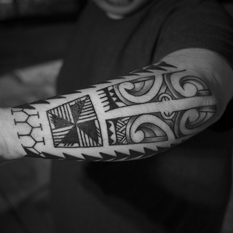 Tattoo by Mikel - Kelowna B.C. Canada. Mix of tribal styles