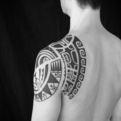 Marquesian inspired tribal