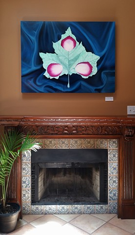 """Trinity Leaf"" installed at Deborah Main Designs for the West Austin Studio Tour 2018, Austin, Texas."