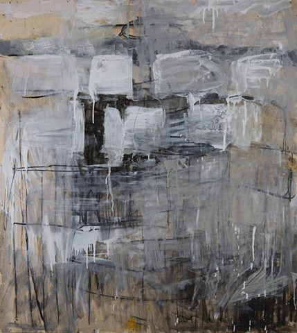 abstract painting, neutral palette, gestural painting
