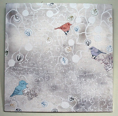 Birds on White
