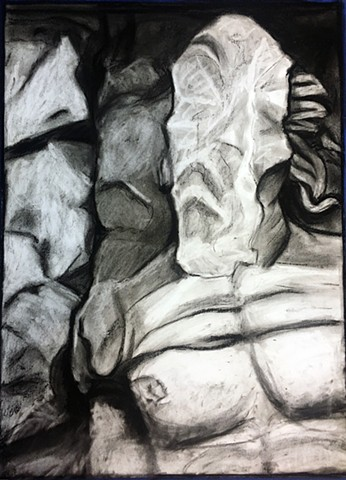 charcoal acrylic god pergamon