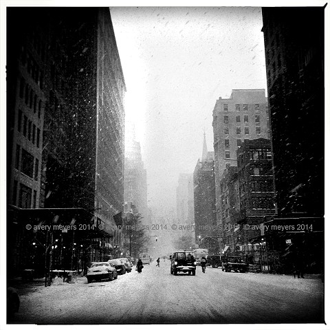 Blizzard '14 - Down 5th Avenue NYC