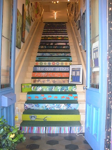 Blue Door Artist Stairs designed by the artists
