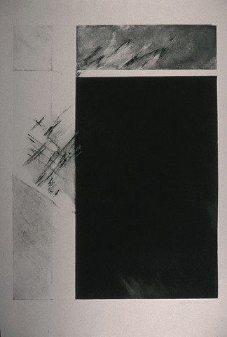 NS 13 Etching on Gray BFK paper