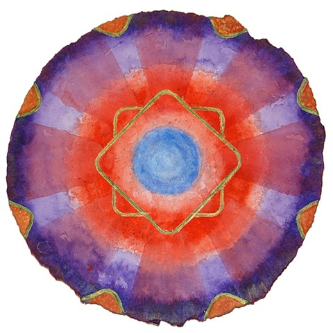abstract lotus mandala watercolor