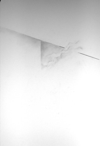 Graphite Drawing on drafting frosted mylar abstract