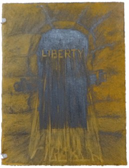 Blocked Passage - Liberty (2) political drawing