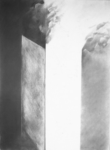 Night Spaces Graphite Drawing on BFK paper