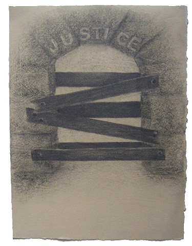 Blocked Passage - Justice (1) political drawing