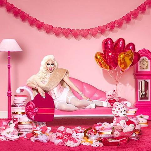 Set Decoration - Valentine's boxes for Trixie Mattel shoot Photography by Lisa Predko - LisaPredko.com
