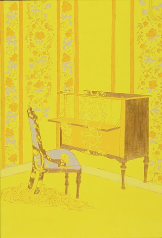Yellow Wallpaper, painting