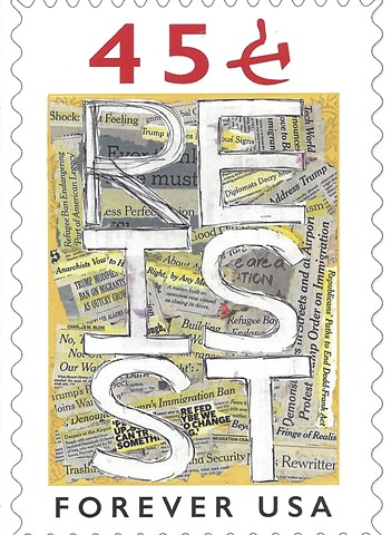 RESIST 45 STAMP card