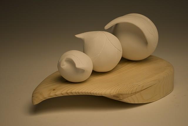 plaster subtractive sculpture