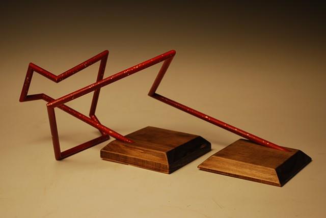 wooden linear sculpture