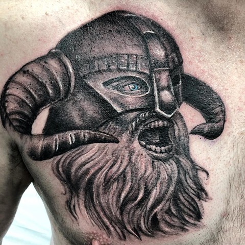 Viking By Steve Hayes Black And Grey With Color Black Gold Tattoo Co