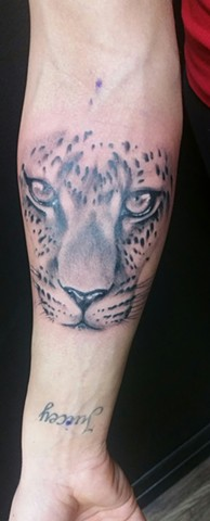 Leopard Tattoo By Ashley Hoff Black And Grey Black Gold Tattoo Co