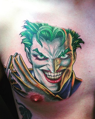 Joker Tattoo By Kyiel Cholik Color Black Gold Tattoo Co
