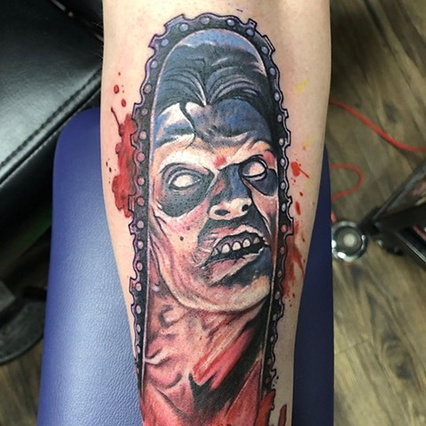 bf18bb72b Evil Dead 2 Tattoo By Chris Labrenz Color Black Gold Tattoo Co.