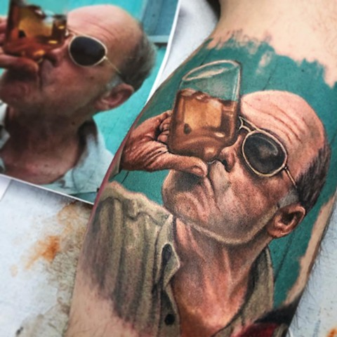 Jim Lahey By Steve Hayes Color Black Gold Tattoo Co