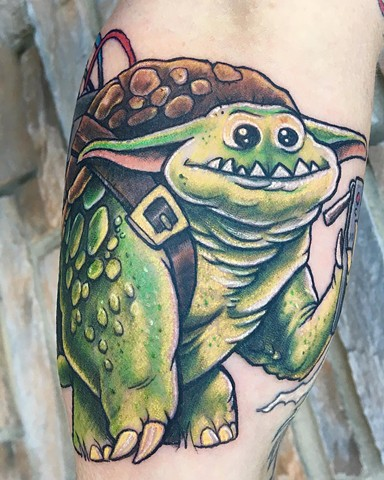 Monster Mashup Tattoo By Chris Labrenz Color Black Gold Tattoo Co