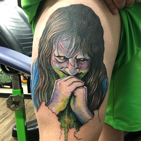 Exorcist Tattoo By Chris Labrenz Color Black Gold Tattoo Co