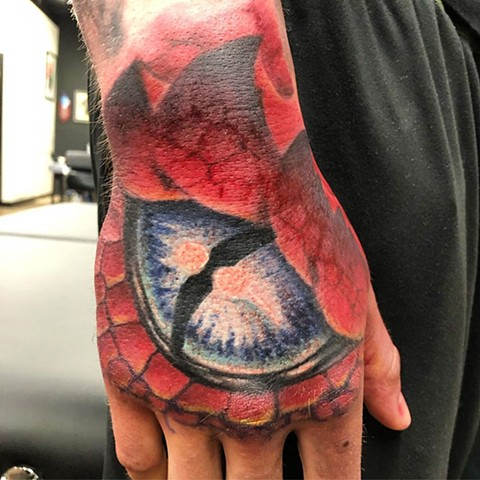 Dragon Eye Tattoo By Steve Hayes Color Black Gold Tattoo Co.