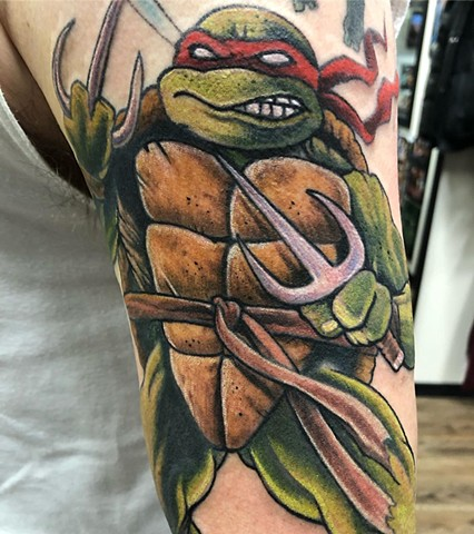 Raphael  Tattoo By Chris Labrenz Color Black Gold Tattoo Co